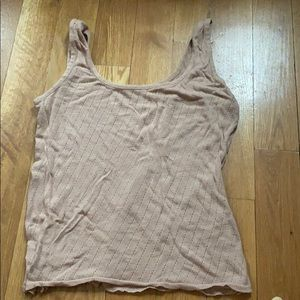 American Apparel knit nude pointelle sweater tank